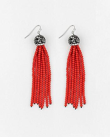 Firepolish Gem Tassel Earrings