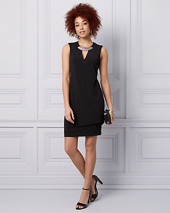 Knit Cutout Cocktail Dress