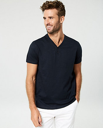 Cotton Henley Top