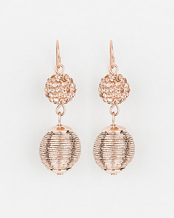 Jewel Embellished Ball Drop Earrings