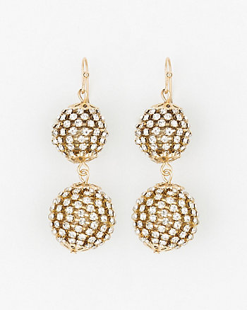 Gem Ball Drop Earrings