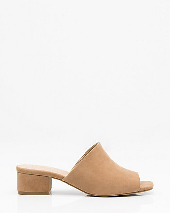 Suede Open Toe Slide