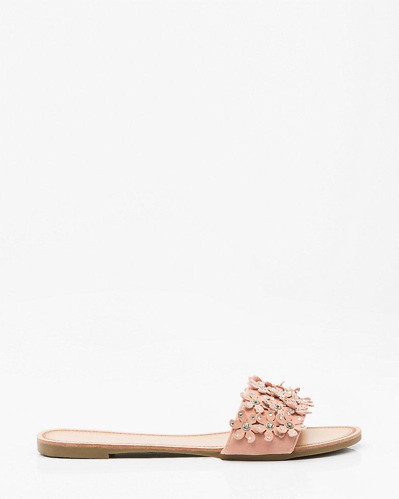 2539034199cd Jewel Embellished Floral Slide Sandal