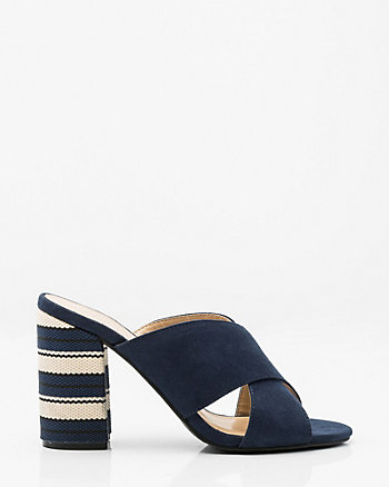Stripe Criss-Cross Mule