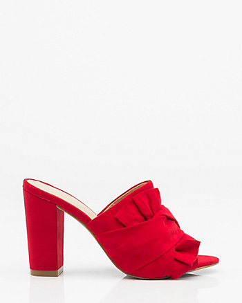Knotted Open Toe Mule