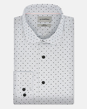 Dot Print Woven Regular Fit Shirt