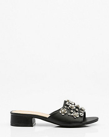 Jewel Embellished Mule