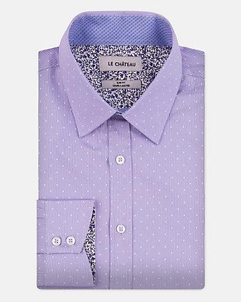 Chemise rayée de coupe ajustée en coton