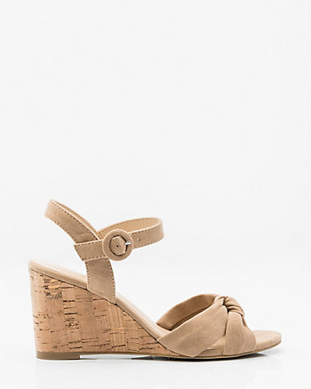 Knotted Criss-Cross Wedge Sandal