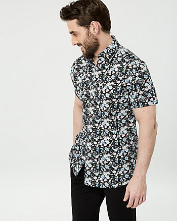 Floral Print Cotton Regular Fit Shirt