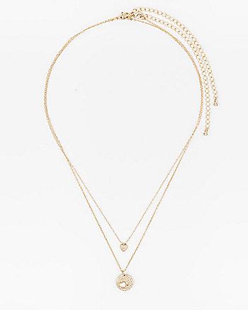 Set of Two Gem Pendant Necklaces