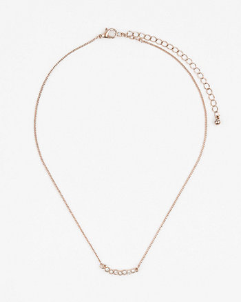 Gem Bar Collarbone Necklace