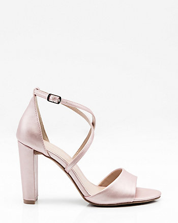 Metallic Criss-Cross Sandal
