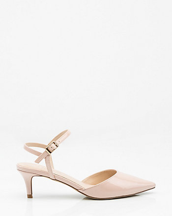 Patent Pointy Toe Kitten Heel Pump