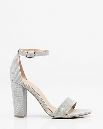 Metallic Ankle Strap Sandal