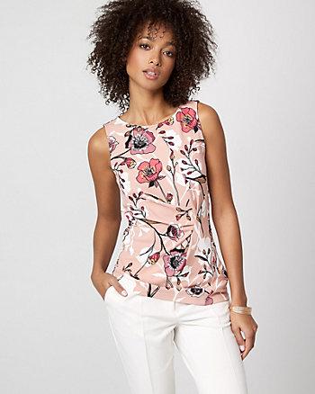 Haut à motif floral en crêpe tricot