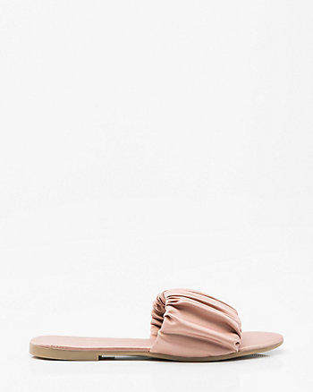 Matte Satin Single Band Slide Sandal