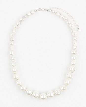 Pearl-Like Collarbone Necklace