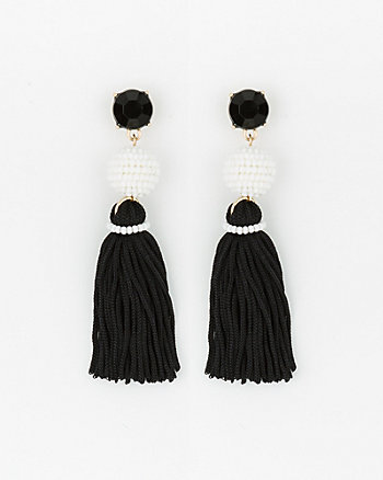 Ball Drop Tassel Earrings