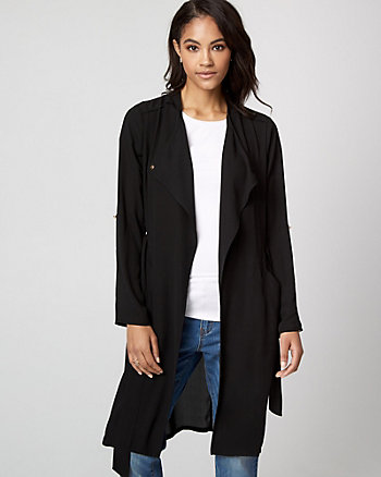 Crêpe de Chine Robe Jacket