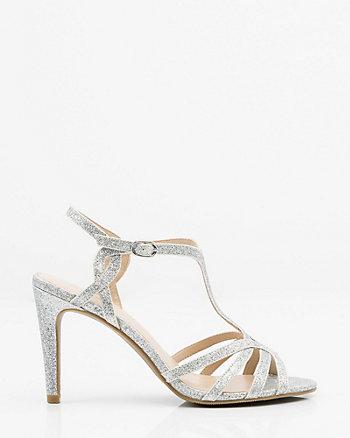 Glitter Strappy T-Strap Sandal