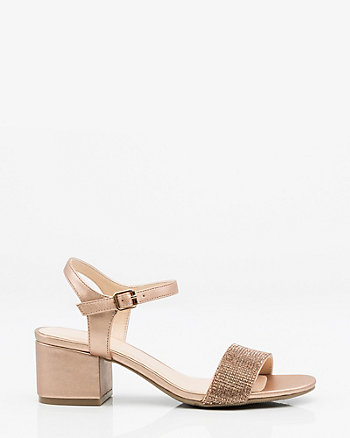 Jewel Embellished Metallic Sandal