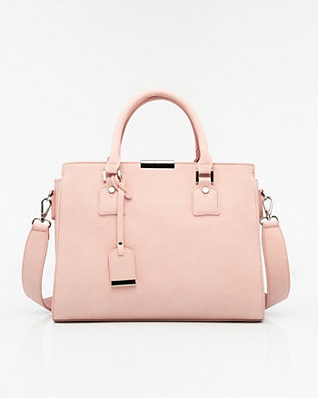 Leather-Like Satchel