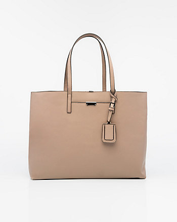Saffiano Leather-Like Tote Bag