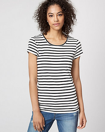 Stripe Jersey Crew Neck T-Shirt