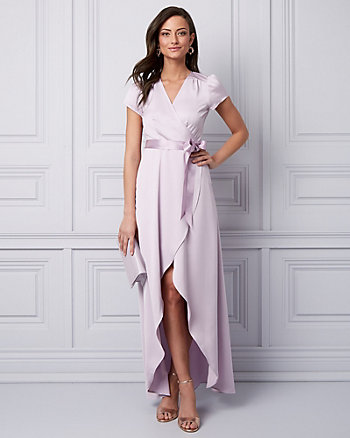 Satin Wrap-Like Gown