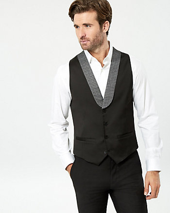Stripe Contemporary Fit Vest