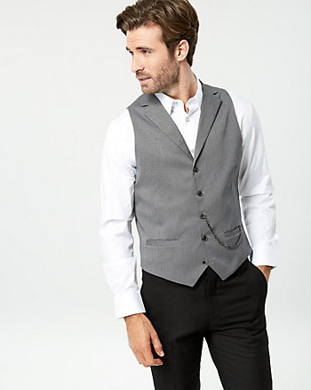 Cotton Blend Contemporary Fit Vest