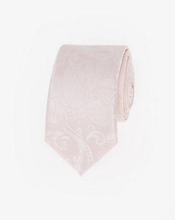 Paisley Print Microfibre Skinny Tie