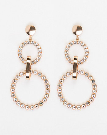 Gem Circle Earrings