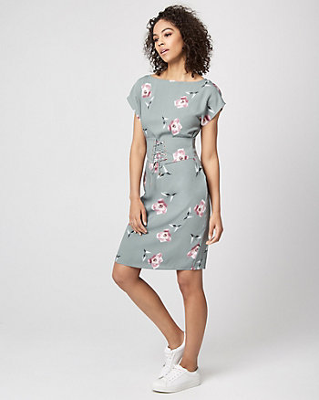 Floral Print Corset Tunic Dress