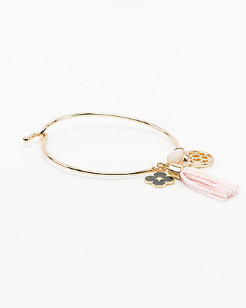 Tassel & Charm Hoop Earrings