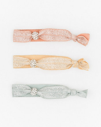 Jewel Embellished Foil Hair Tie