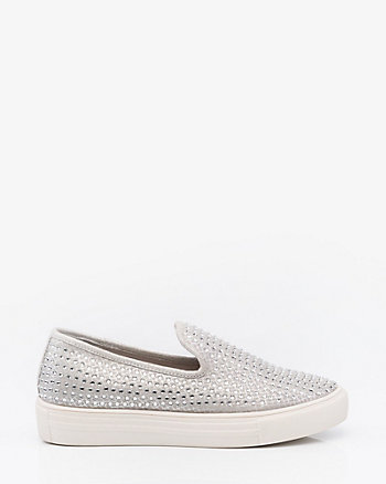 Jewel Embellished Slip-On Sneaker