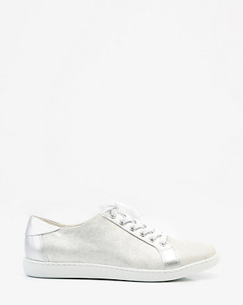 Italian-Made Metallic Leather Sneaker