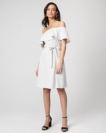 Stripe Off-the-Shoulder Dress
