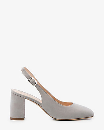 Italian-Made Suede Slingback Pump