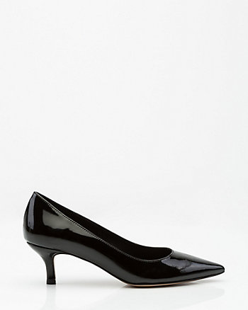 Italian-Made Patent Leather Pointy Toe Pump