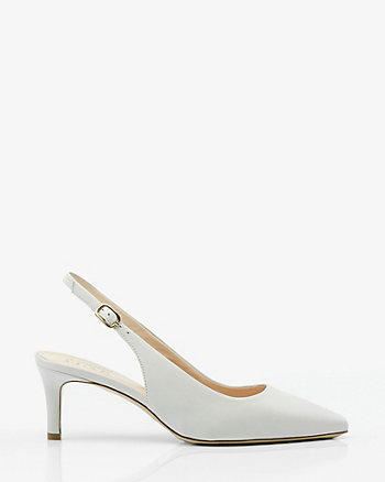 Italian-Made Leather Slingback Pump