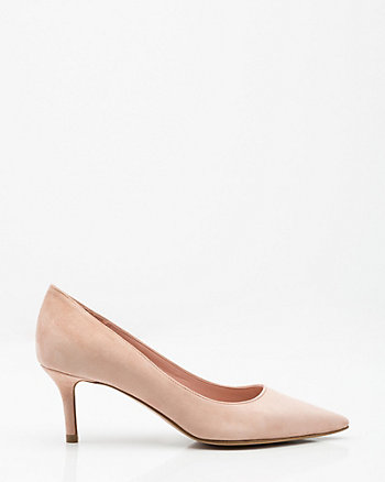 Italian-Made Suede Pointy Toe Pump