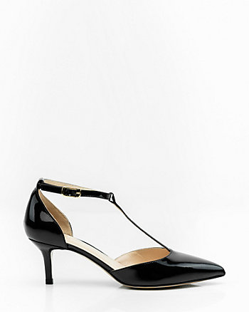 Italian-Made Patent Leather T-Strap Pump