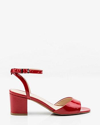 Patent Ankle Strap Sandal