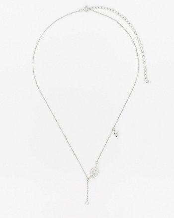 Gem Leaf Pendant Necklace