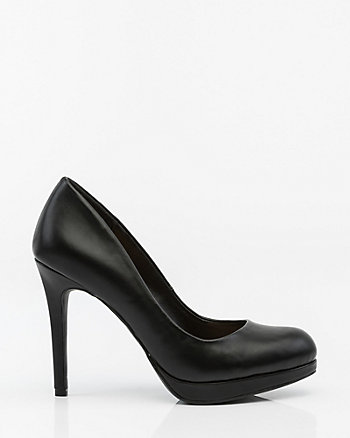 Almond Toe Platform Pump