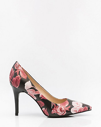 Floral Print Pointy Toe Pump