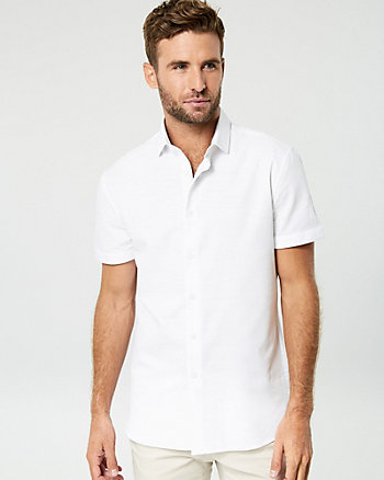 Textured Cotton Tailored Fit Shirt